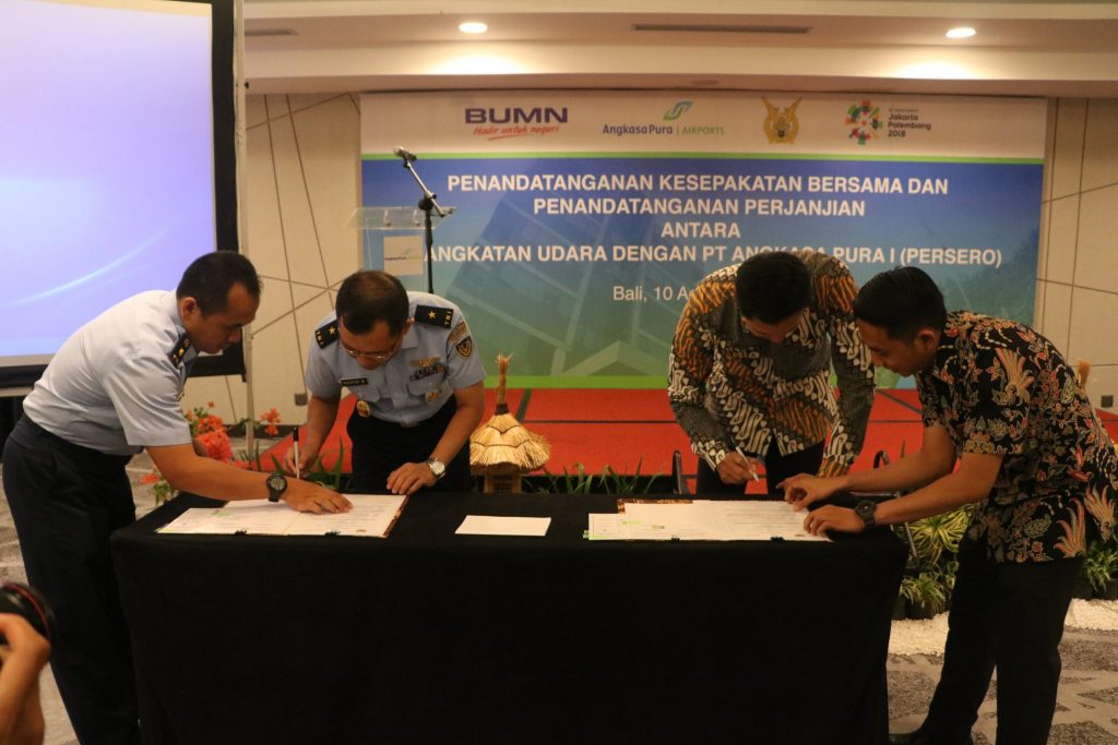 Penandatanganan Kesepakatan Bersama (MOU) Relokasi Baseops Lanud I Gusti Ngurah