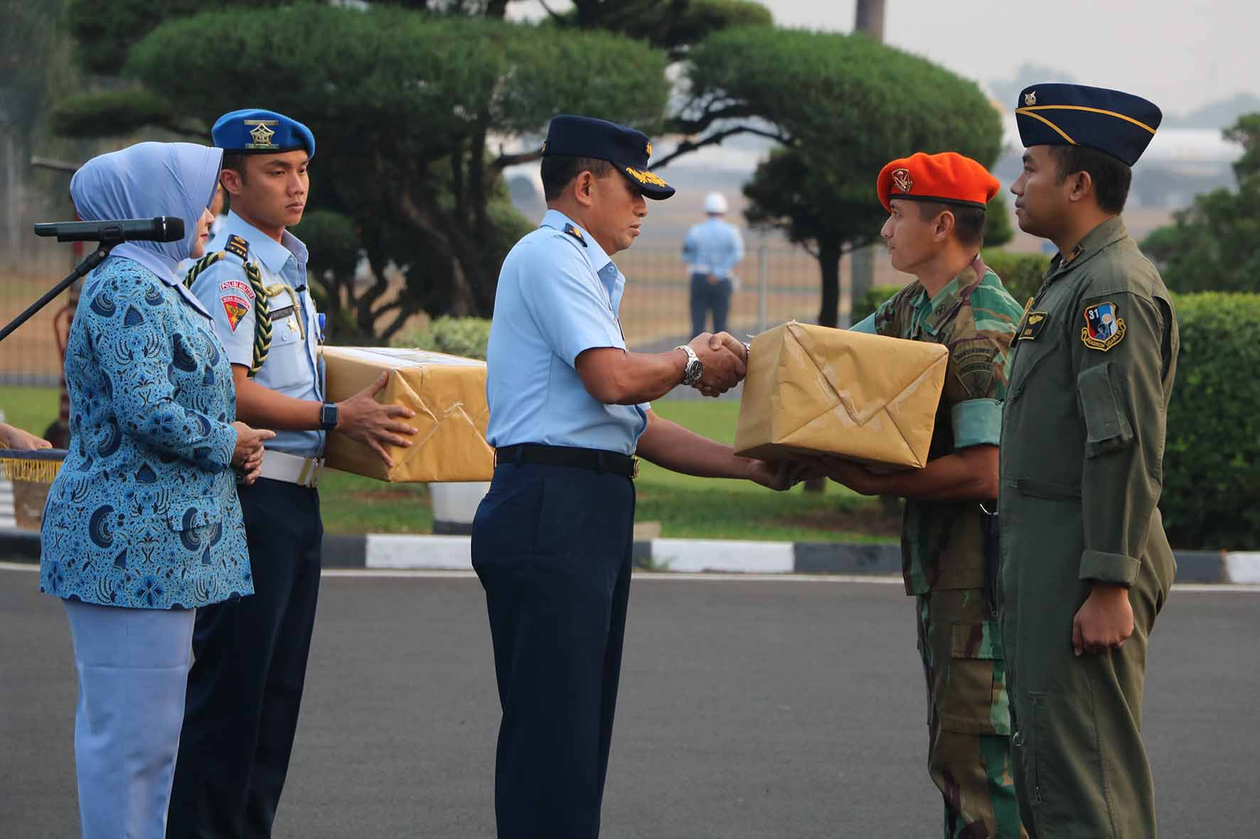 Upacara Pemberangkatan Peduli Gempa di Lombok
