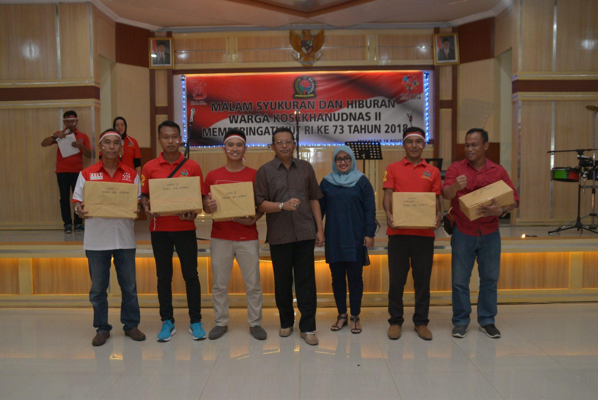 Berbagai Lomba Meriahkan Peringatan HUT RI Ke-73 di Kosekhanudnas II Makassar
