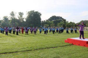 IKKT PWA Cab 04 Kosekhanudnas III Gelar Olah Raga Bersama