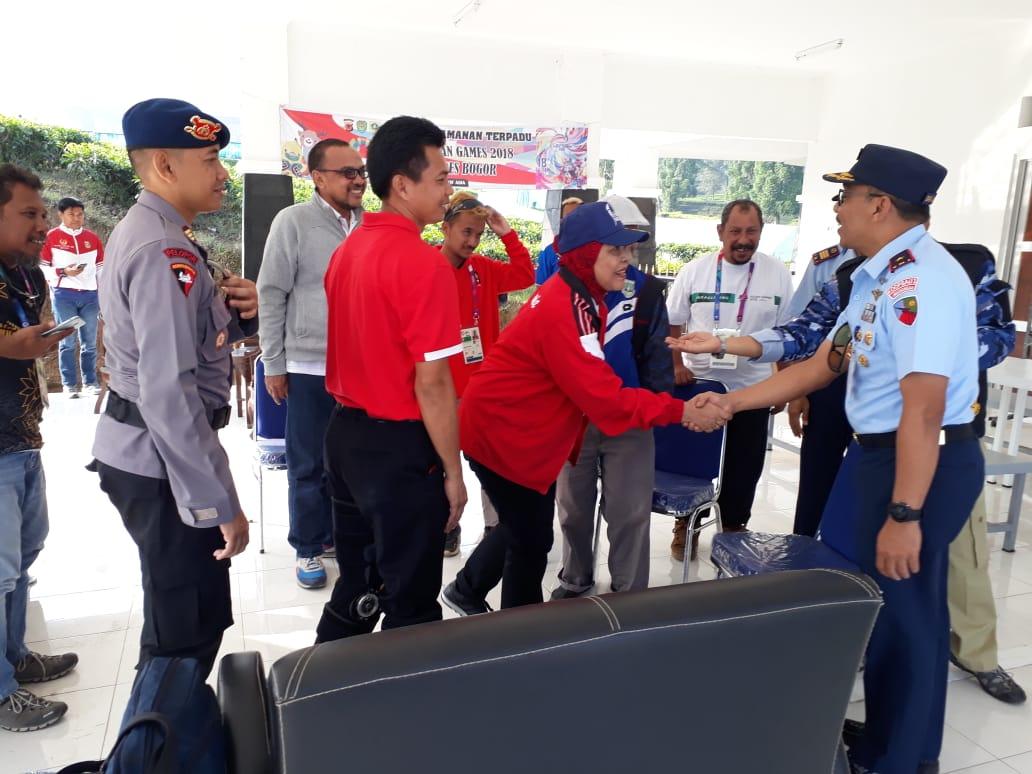 Danlanud Atang Sendjaja Sambangi Venue Paralayang Asian Games XVIII