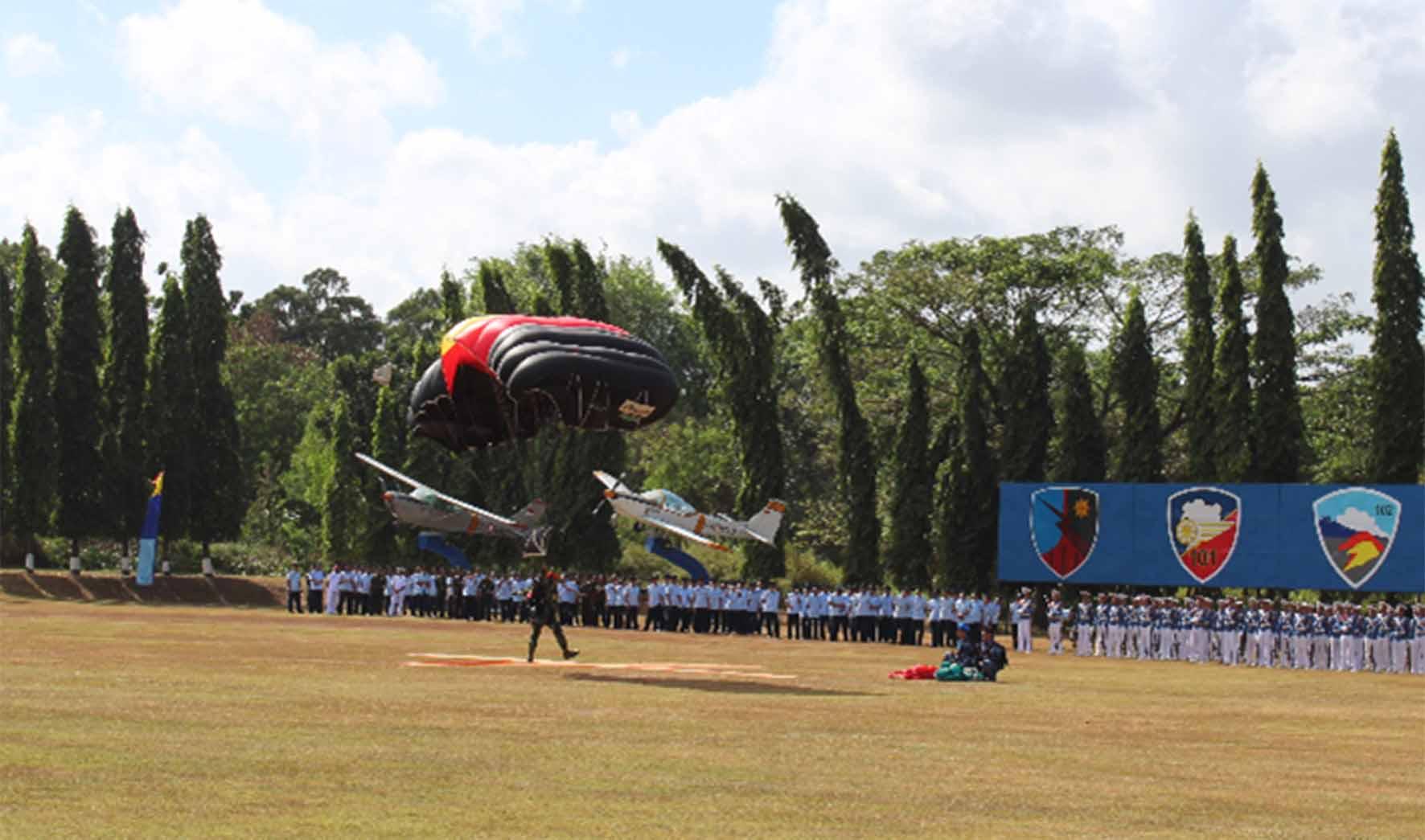 Denhanud 474 Paskhas Mengikuti Upacara Wing Day Sekbang A 93
