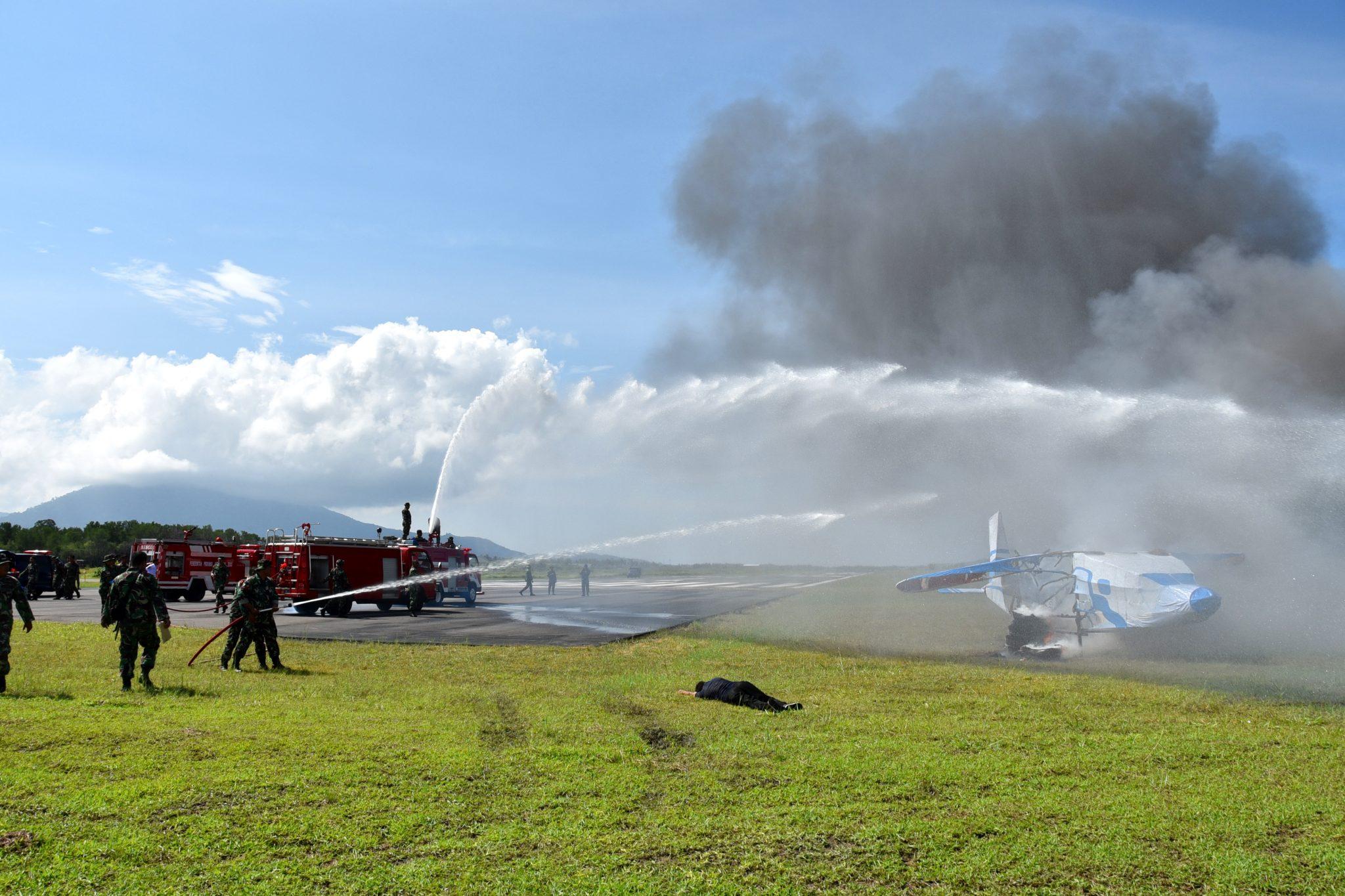 Latihan Crash Team dan SAR di Lanud Raden Sadjad Ranai-Natuna