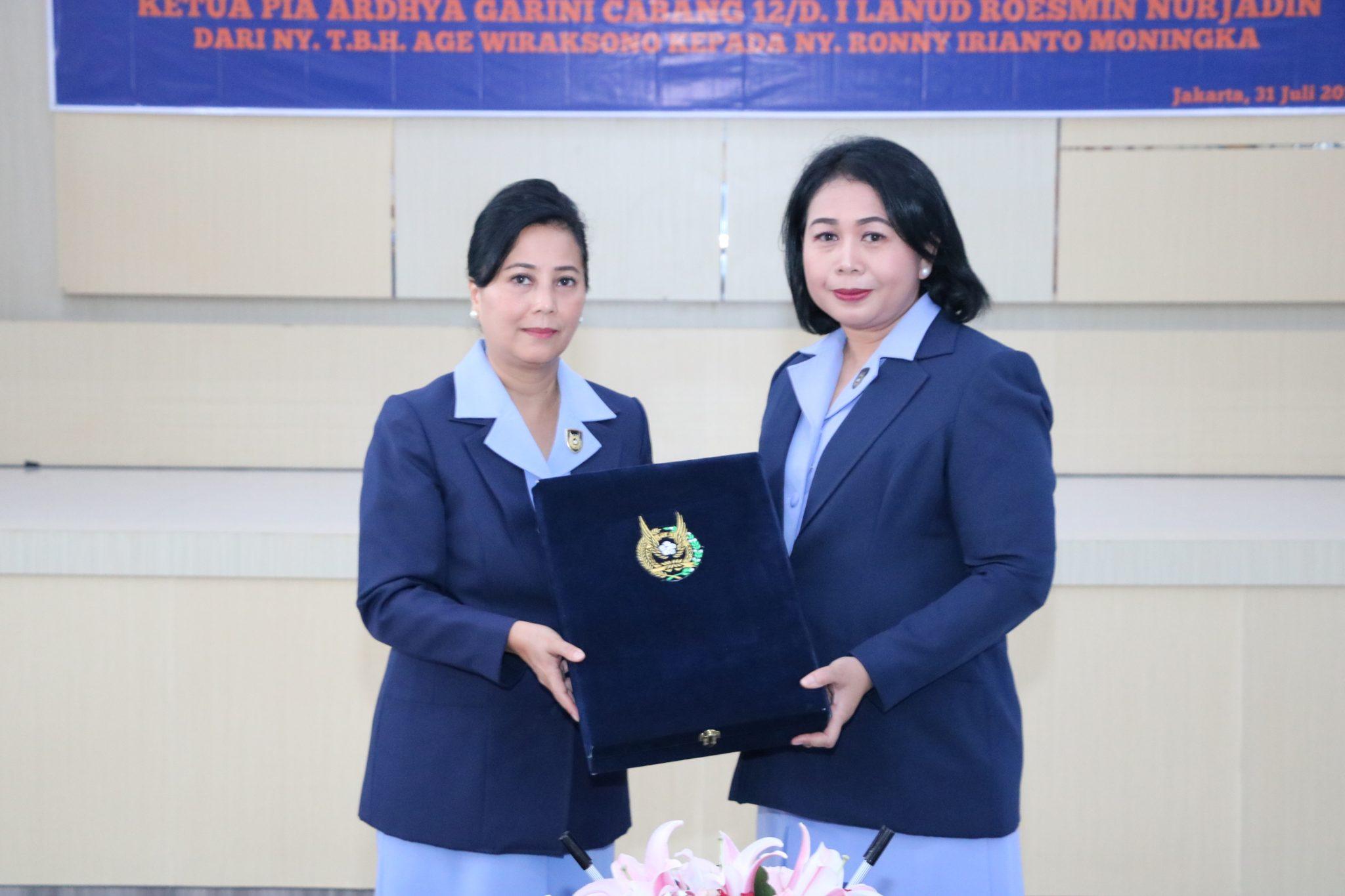 Serah terima Jabatan Ketua PIA AG Cab. 12/D.I Lanud Roesmin Nurjadin