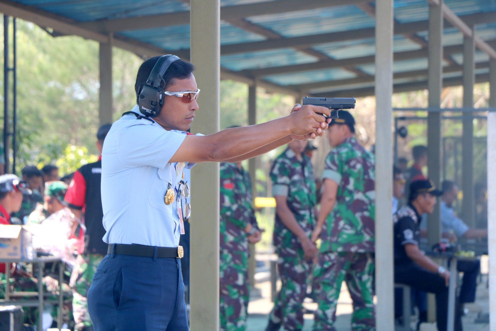 Asah Skill, Lanud Abd Saleh Gelar Lomba Menembak