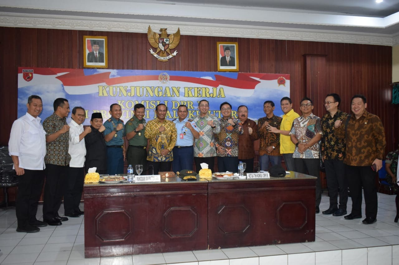 Danlanud Leo Wattimena Ikuti Paparan Kesiapan Daerah Perbatasan Di Ternate Dengan Komisi I DPR