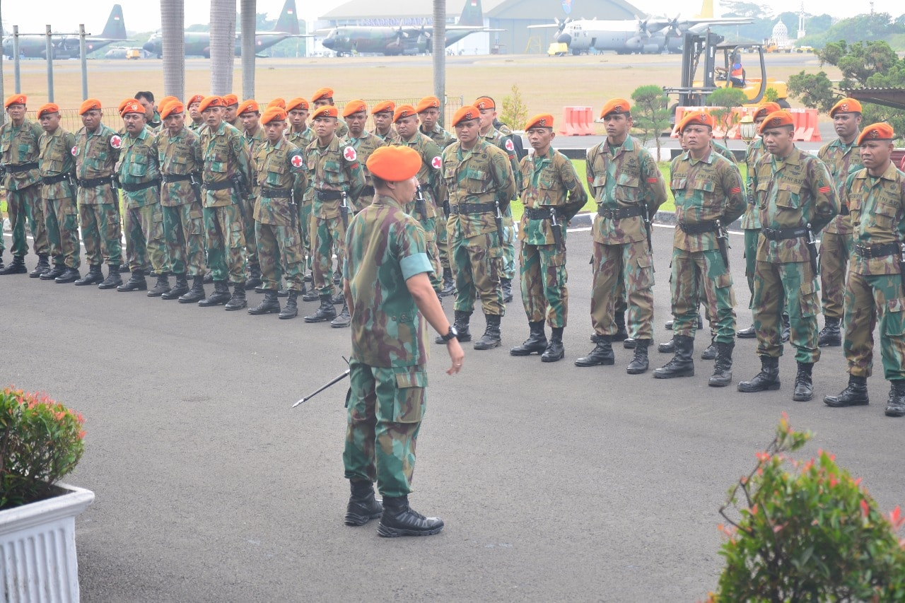 Seratus Personel Paskhasau Diberangkatkan ke Lombok
