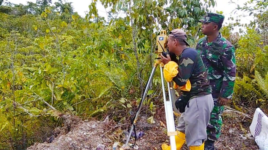 Disfaskonau Laksanakan Pengukuran/Pemetaan dan Investigasi Tanah Lokasi Pembangunan Makoopsau III Biak