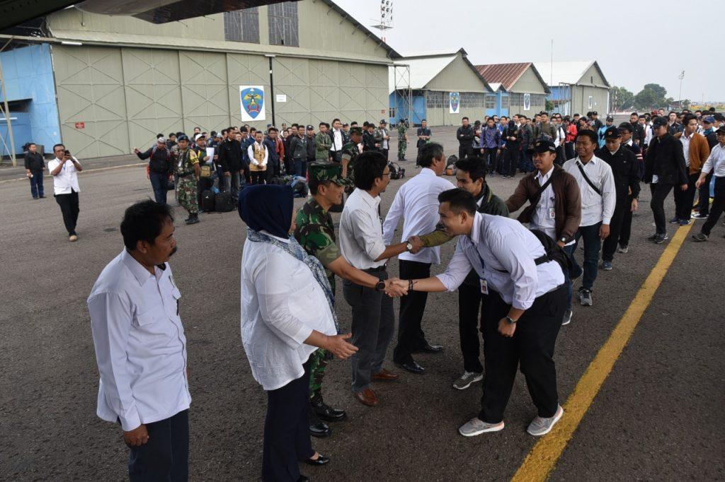 Danlanud Husein Sastranegara Turut Melepas 191 Calon PNS PUPR ke Lombok