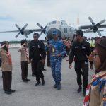 C-130 Hercules TNI AU, Terbangkan Api Asian Games ke Ranah Minang