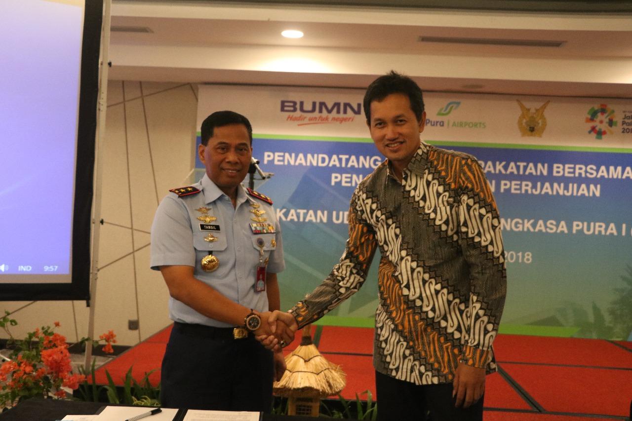 Pangkoopsau III Tandatangani Perjanjian Penggunaan Bersama Lanud Pattimura