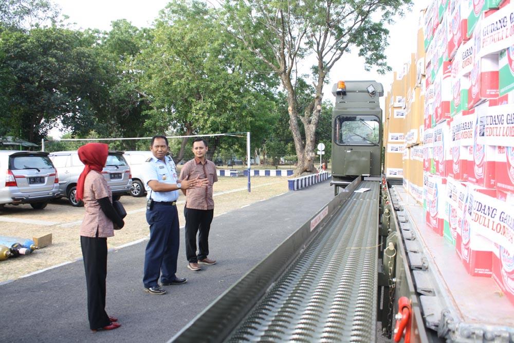 Peduli Gempa Lombok, Posko Lanud IWJ Kumpulkan 14 Ton Bantuan