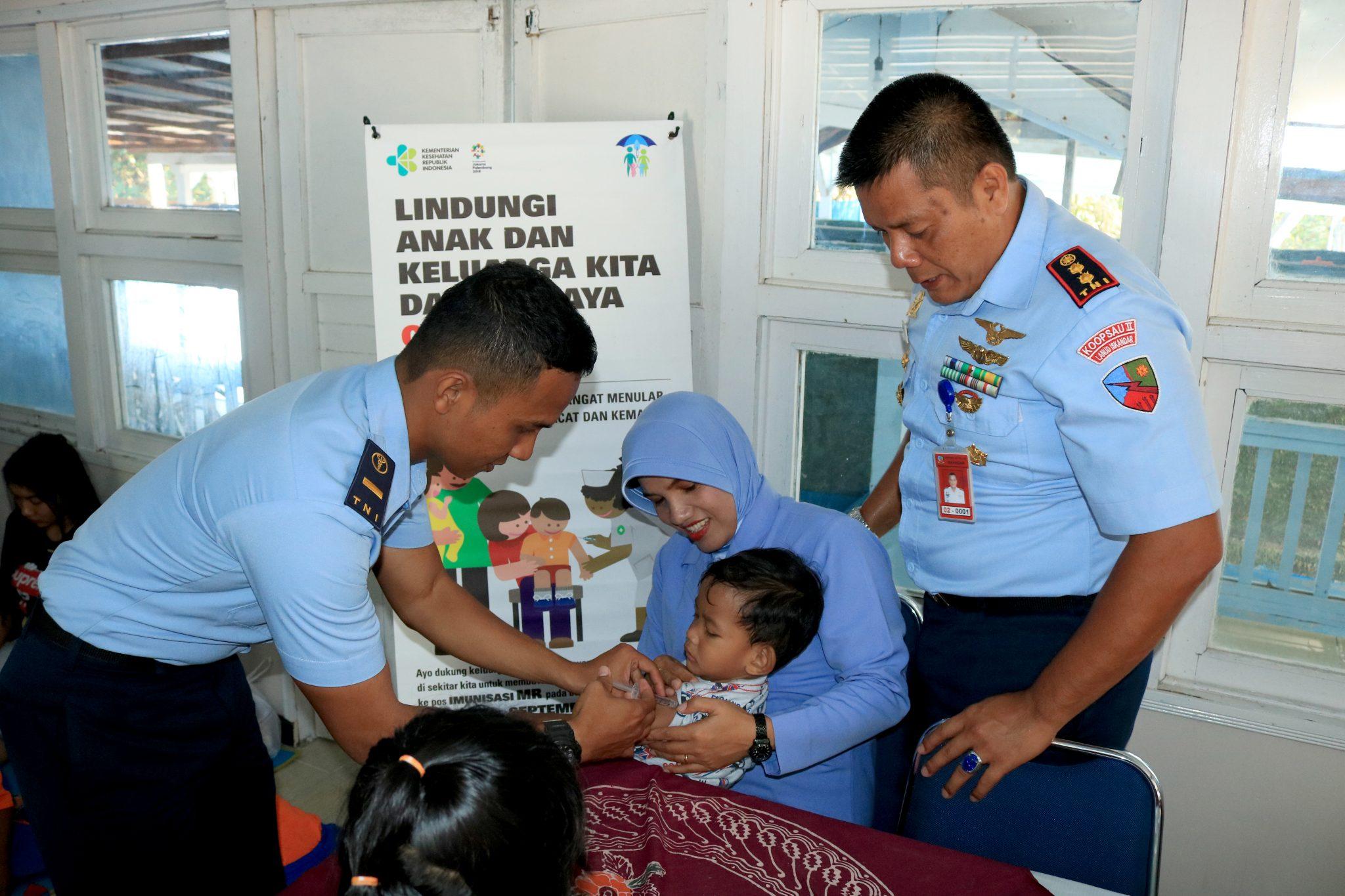 Cegah Rubella dan Campak Lanud Iskandar Adakan Imunisasi MR