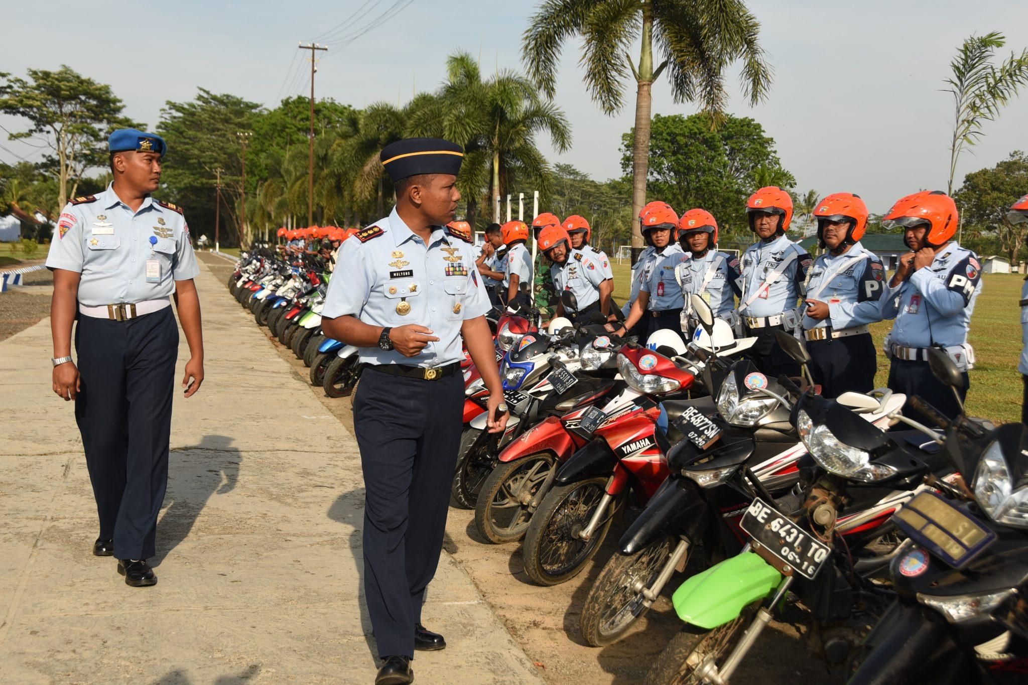 Apel Kesiapan Kendaraan Lanud Pangeran M. Bun Yamin