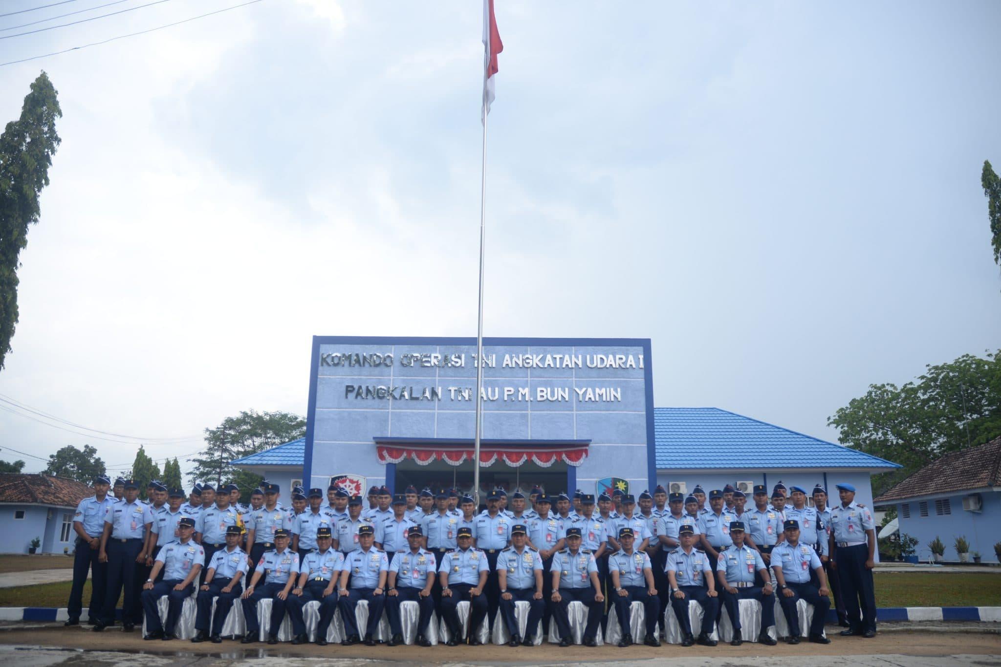 Kunjungan Kerja Pangkoopsau I di Lanud Pangeran M. Bun Yamin.