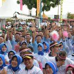 Lanud RHF Tanjungpinang Ikut Pecahkan Rekor Muri Tarian Gemu Famire