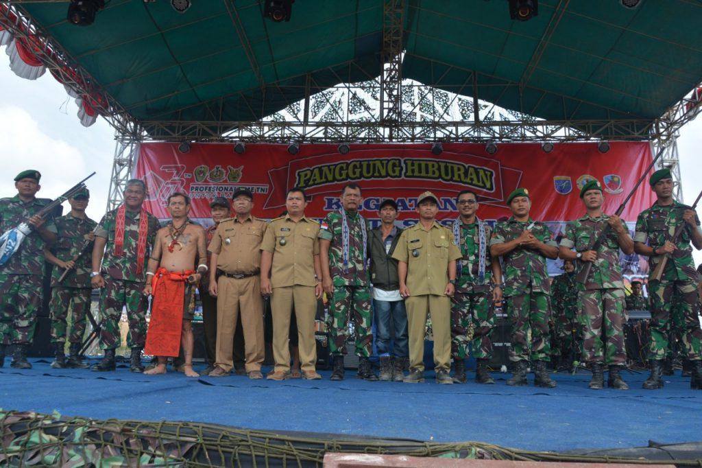 Danlanud Supadio Hadiri Baksos TNI di Perbatasan Indonesia-Malaysia