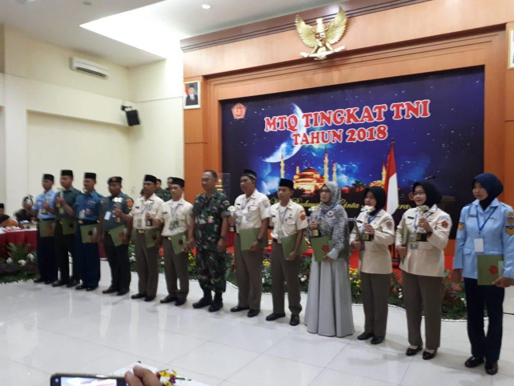 Kafilah TNI AU Raih Juara pada MTQ TNI 2018