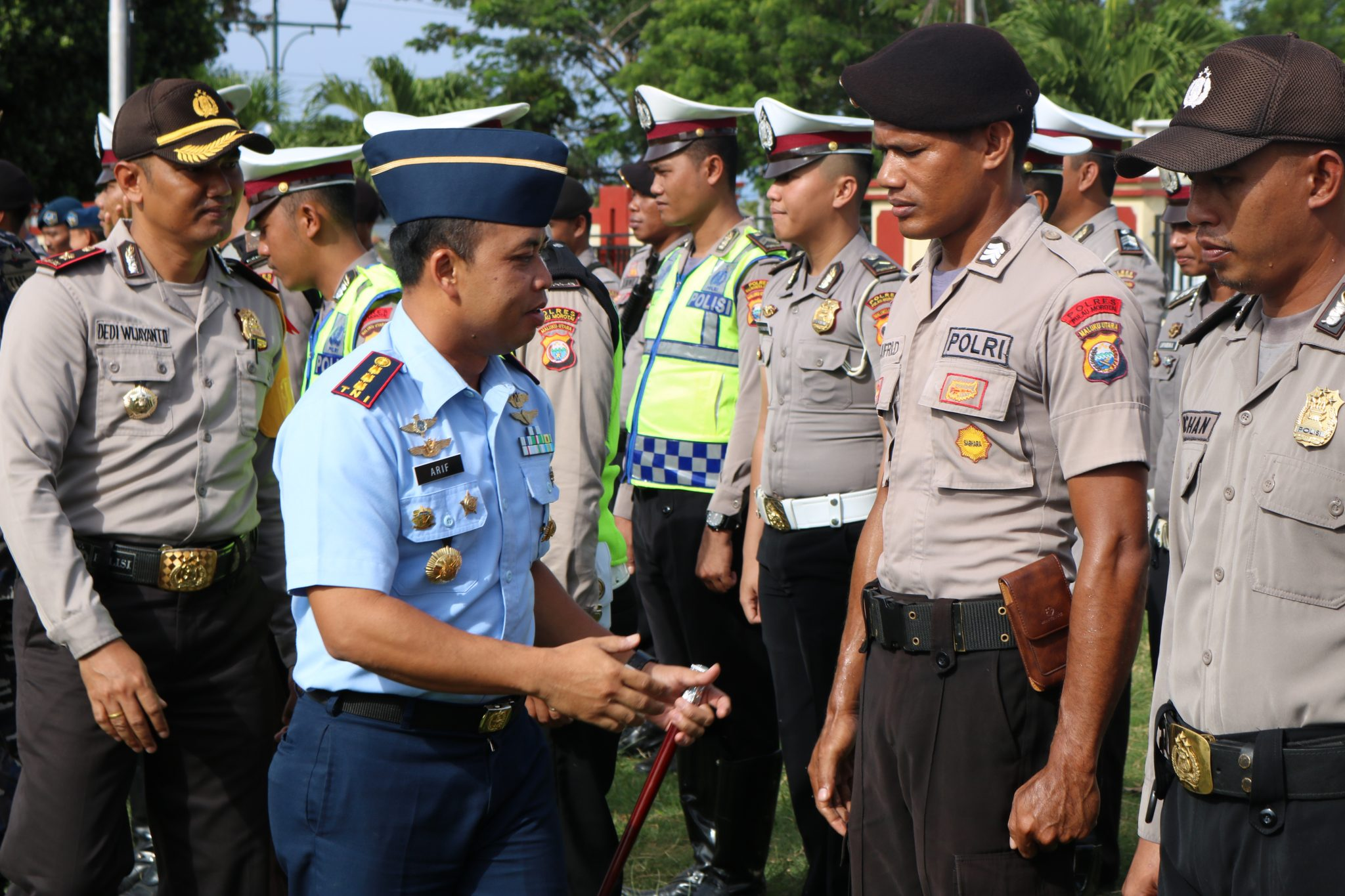 Danlanud Leo Wattimena Hadiri Apel Gelar Pasukan di Polres Morotai