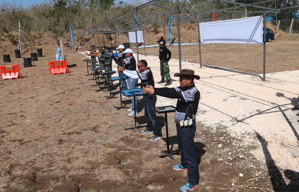 Satpom Lanud El Tari Gelar Lomba Menembak 4 Angkatan