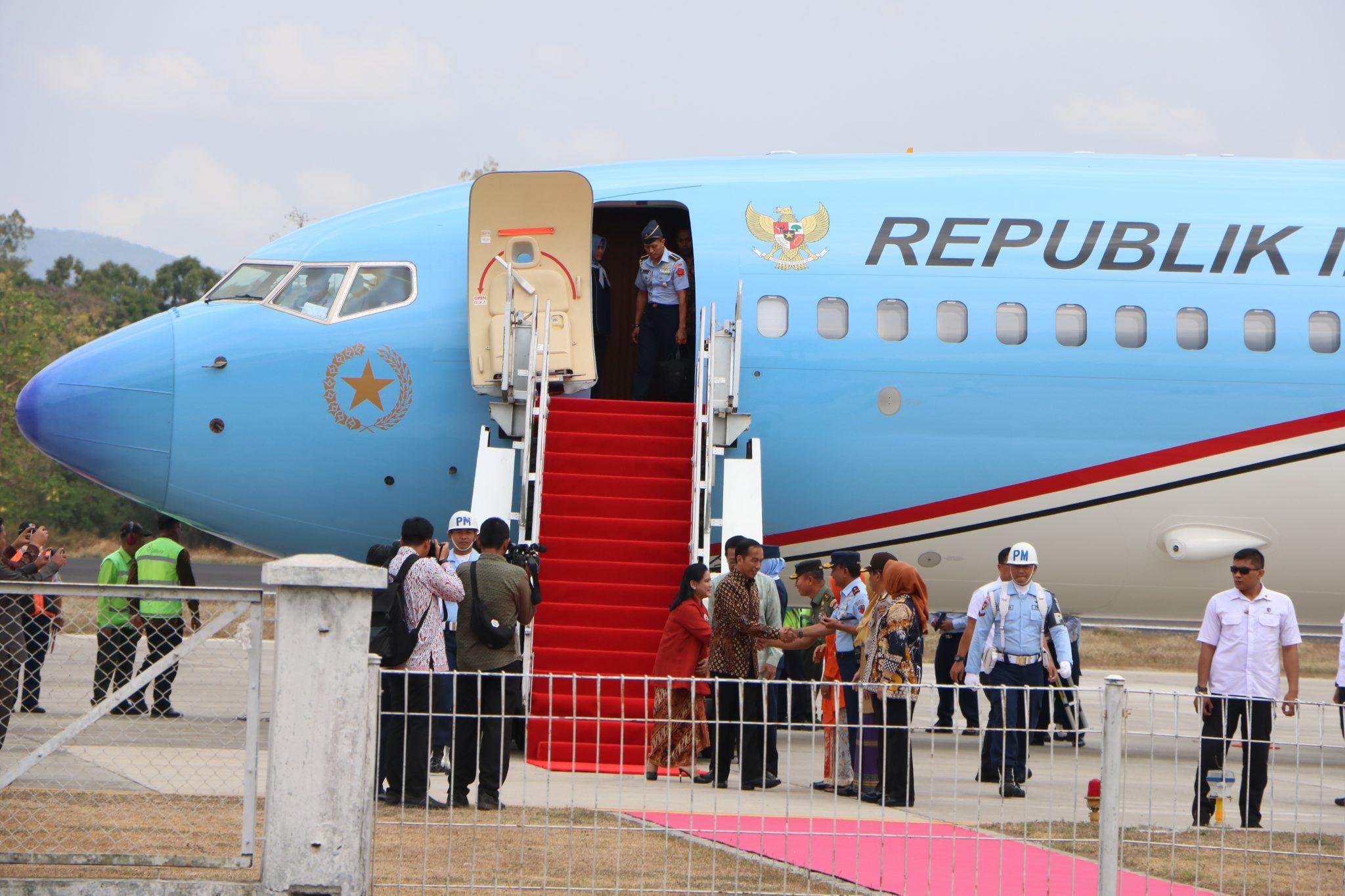 Danlanud Adisutjipto Sambut Kedatangan Presiden RI di Yogyakarta.