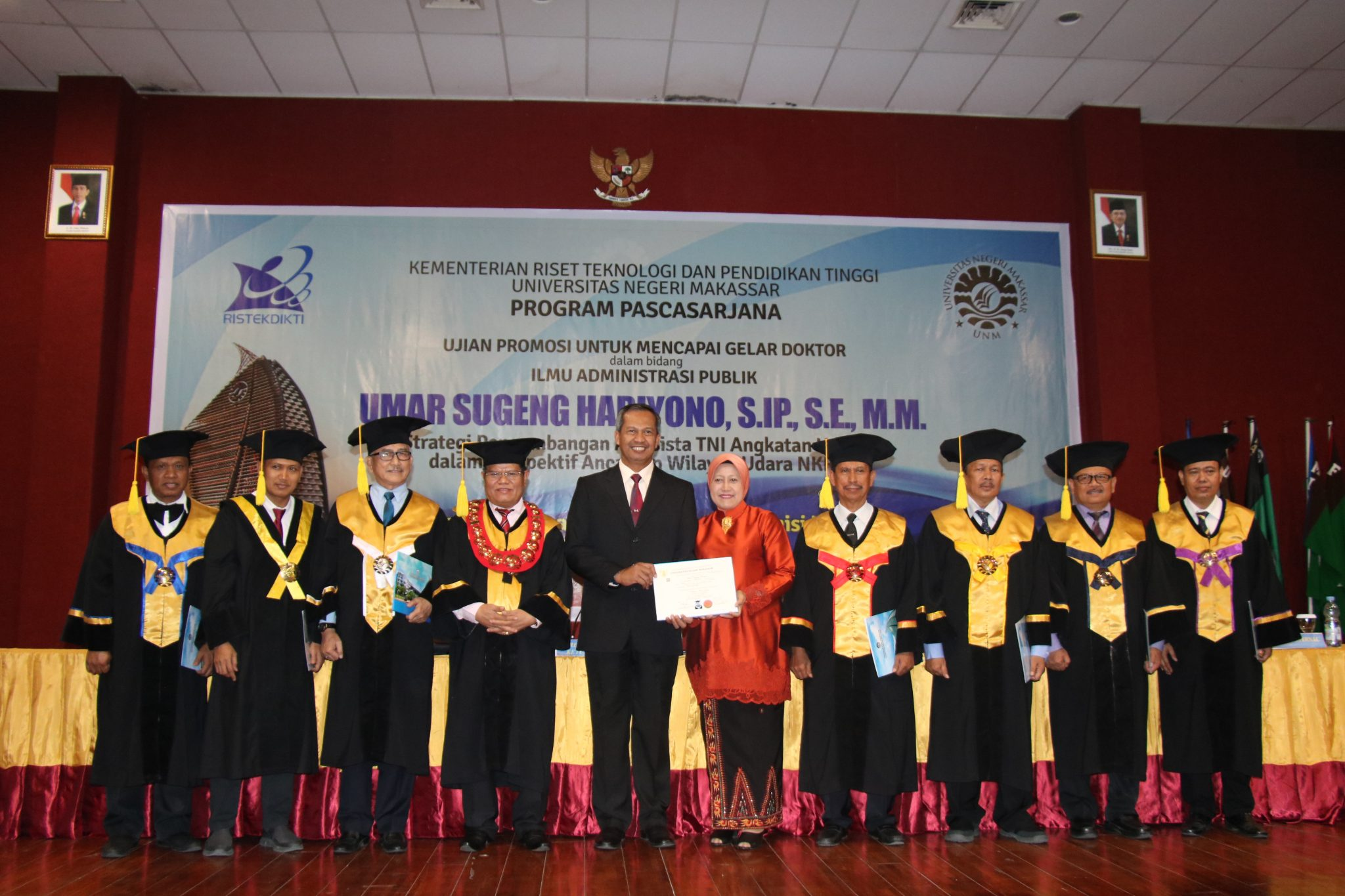 Koorsahli Kasau Marsekal Muda TNI Umar Sugeng Hariyono Resmi Menyandang Gelar Doktor
