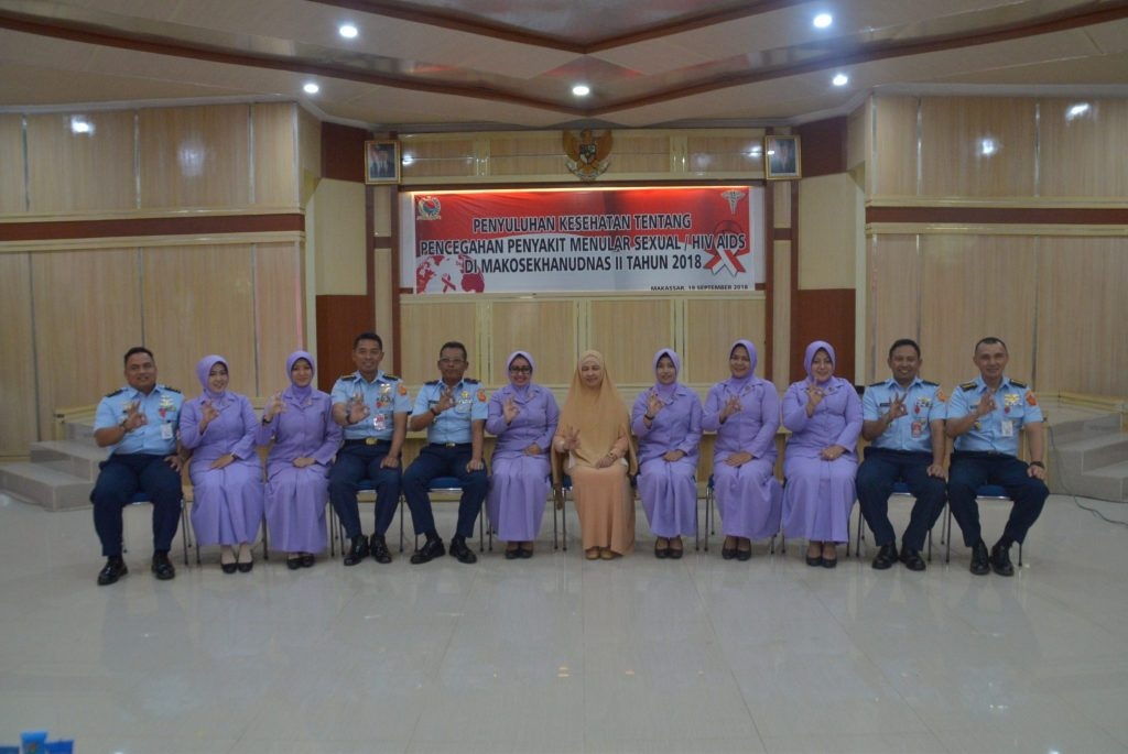 Penyuluhan HIV AIDS dan IMS (Infeksi Menular Seksual) di Kosekhanudnas II Makassar