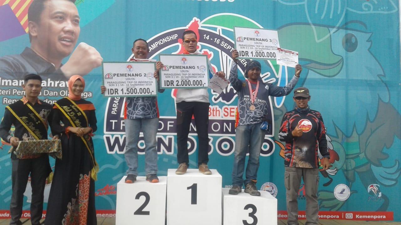 Anggota Lanud Abd Saleh Raih Juara Paralayang Trip of Indonesia (Troi) 3rd Series