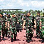 Danlanud Rsa Natuna Sambut Kedatangan Waasrenum Panglima TNI