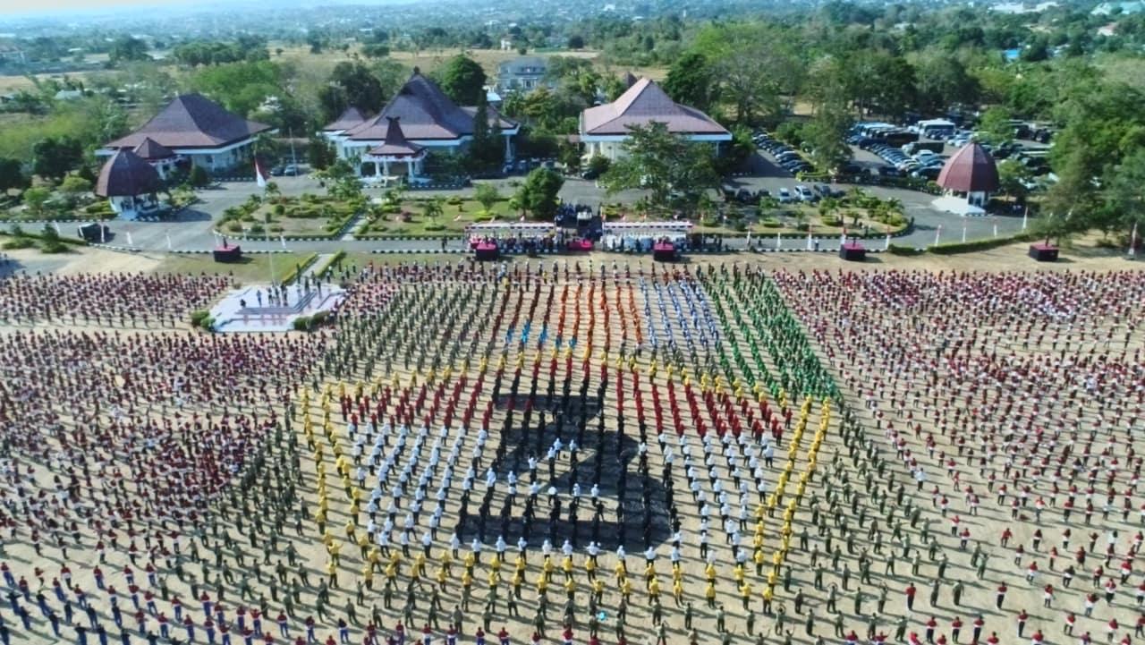 Ribuan Orang Dalam Satu Komando Gemufamire Pecahkan Rekor Muri di Tanah Kelahiran, Bumi Flobamora