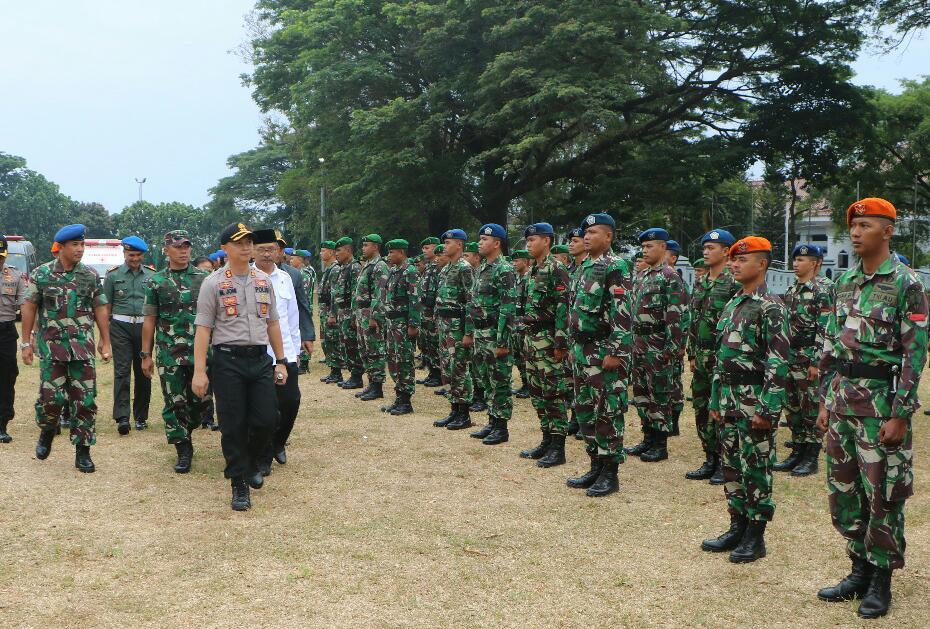 Danlanud Suryadarma Hadiri Apel Gelar Pasukan Operasi Mantap Brata 2018