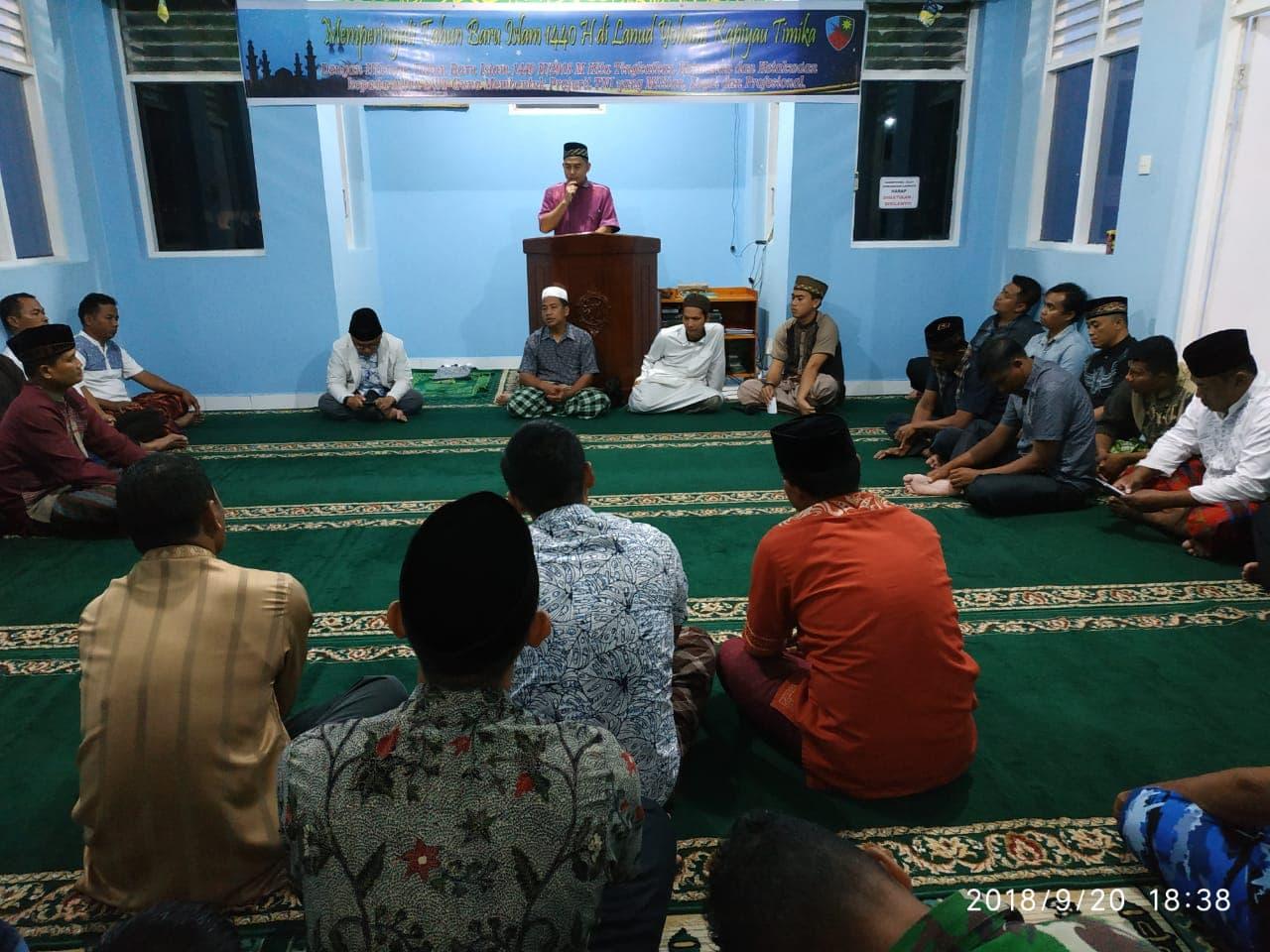 Peringatan Tahun Baru Islam 1440 H di Lanud Y Kapiyau Timika