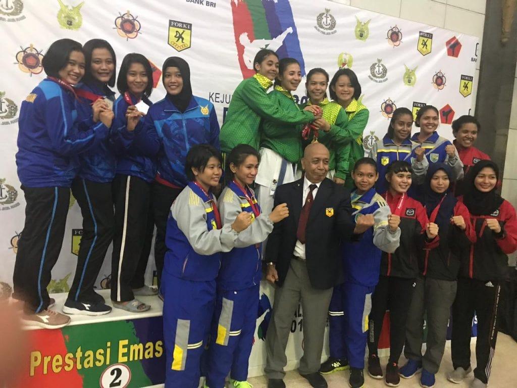 Prestasi Tim Karate TNI AU Dalam Kejurnas Karate Panglima TNI Cup 2018