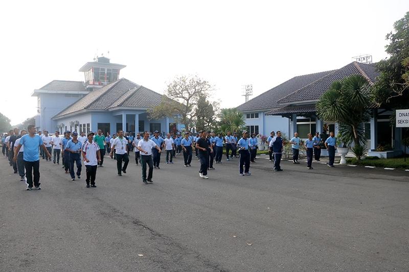 Komunitas Bandara Adisutjipto Laksanakan Olah Raga Bersama
