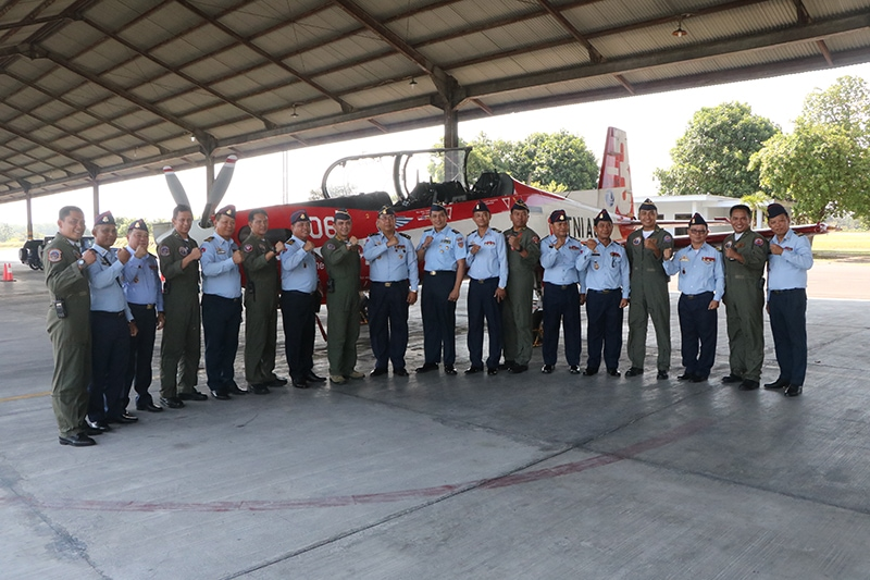 Delegasi Royal Cambodian Air Force Kunjungi Lanud Adisutjipto