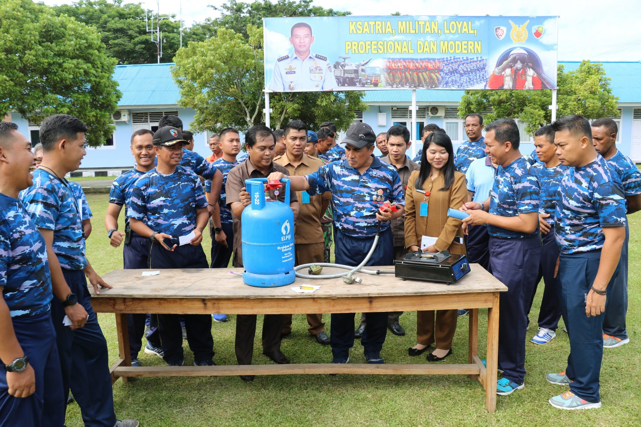 Koperasi Pertamina Papua Sosialisaikan Gas LPG di Lanud Spr