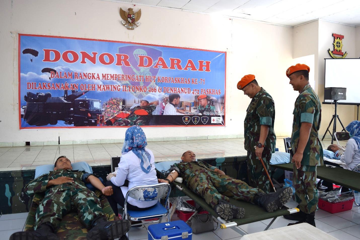 Bakti Sosial Donor Darah Wing II Paskhas