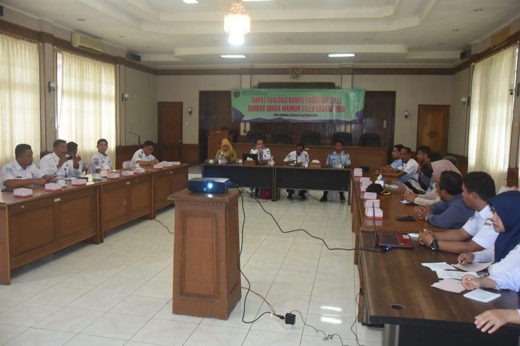 Rapat Evaluasi FAL Bandar Udara Maimun Saleh