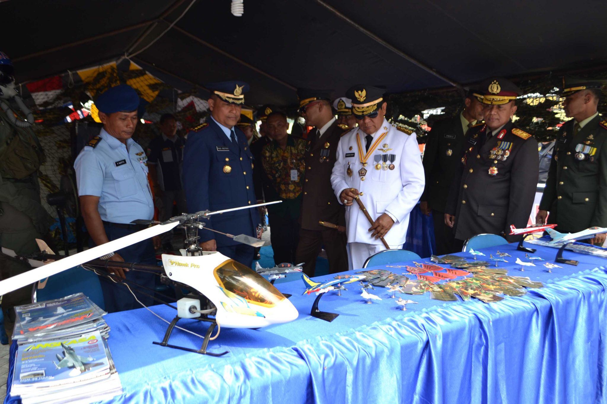 Lanud Sjamsudin Noor Ikuti Pameran Alutsista Dalam Rangka HUT TNI ke-73 Tahun 2018