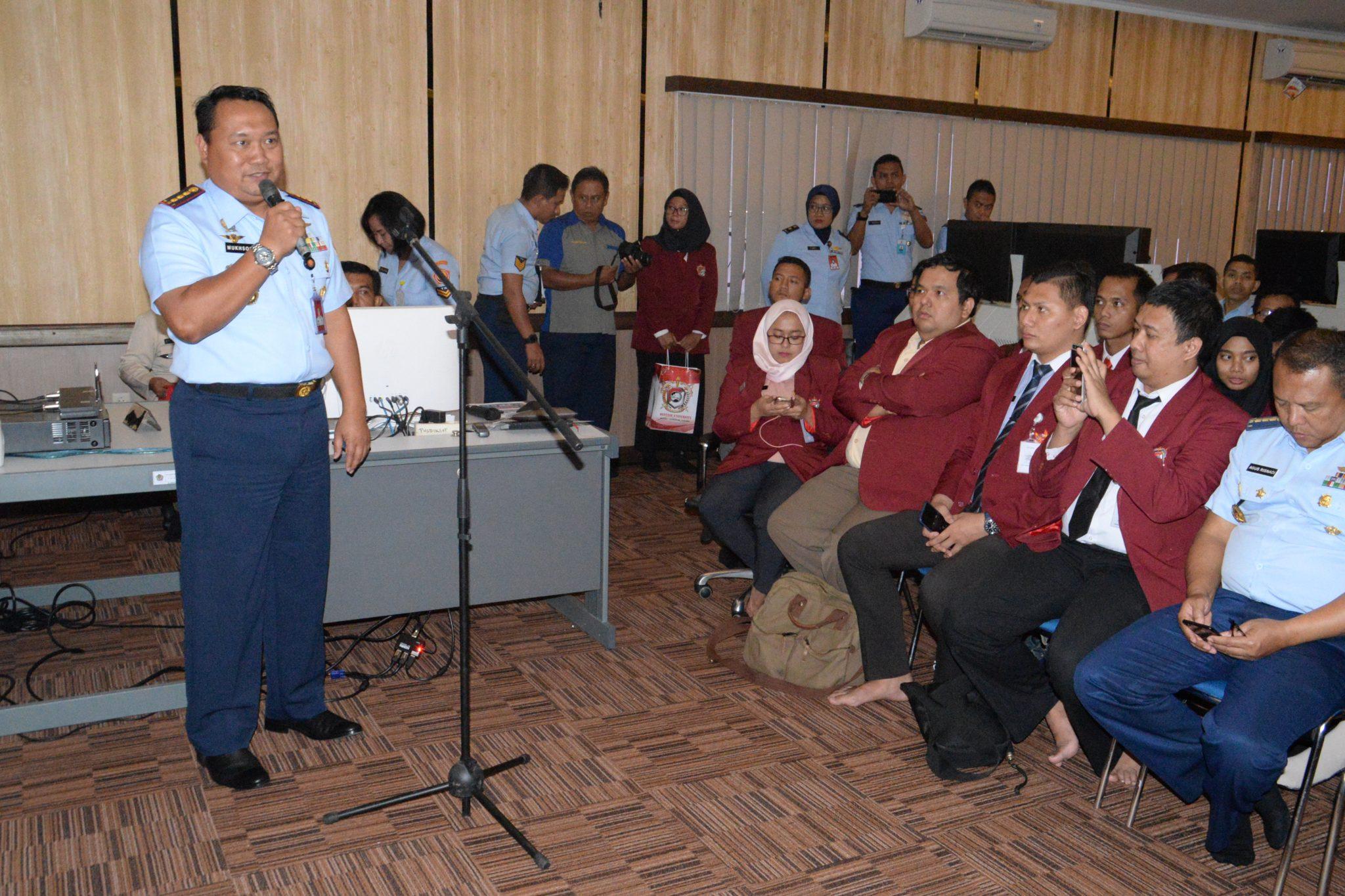 Kunjungan Fakultas Teknologi Pertahanan Universitas Pertahanan di Pusdiklat Hanudnas Surabaya