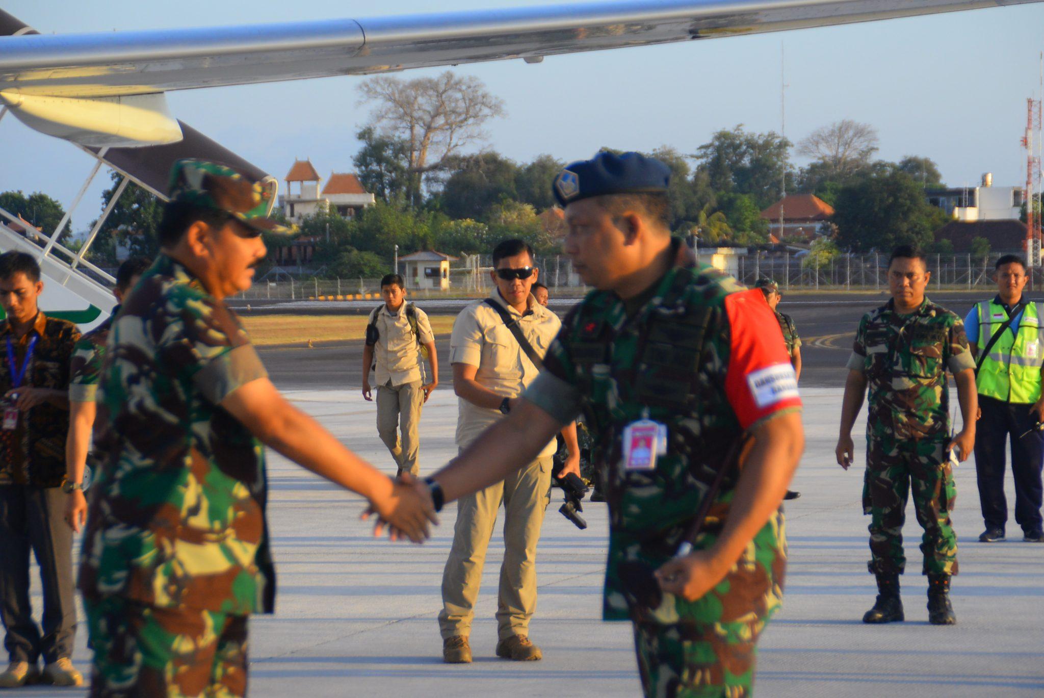 Komandan Lanud I Gusti Ngurah Rai Sambut Panglima TNI