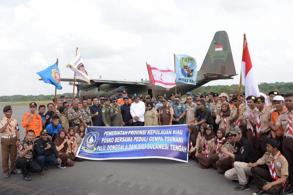 Gunakan Hercules, Lanud RHF untuk Kirim Bantuan untuk Korban Gempa dan Tsunami di Sulawesi Tengah