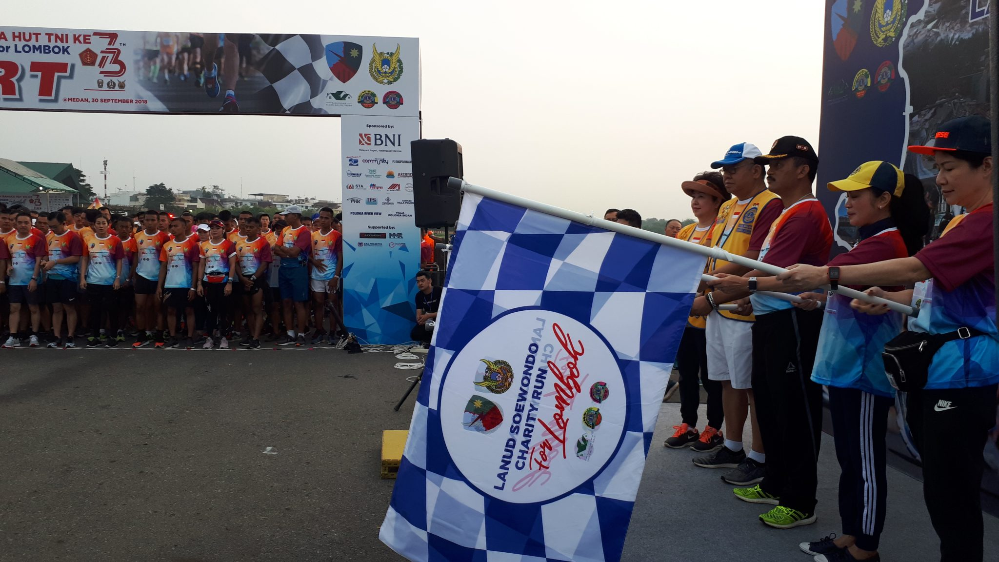 Lanud Soewondo Laksanakan Charity Run For Lombok