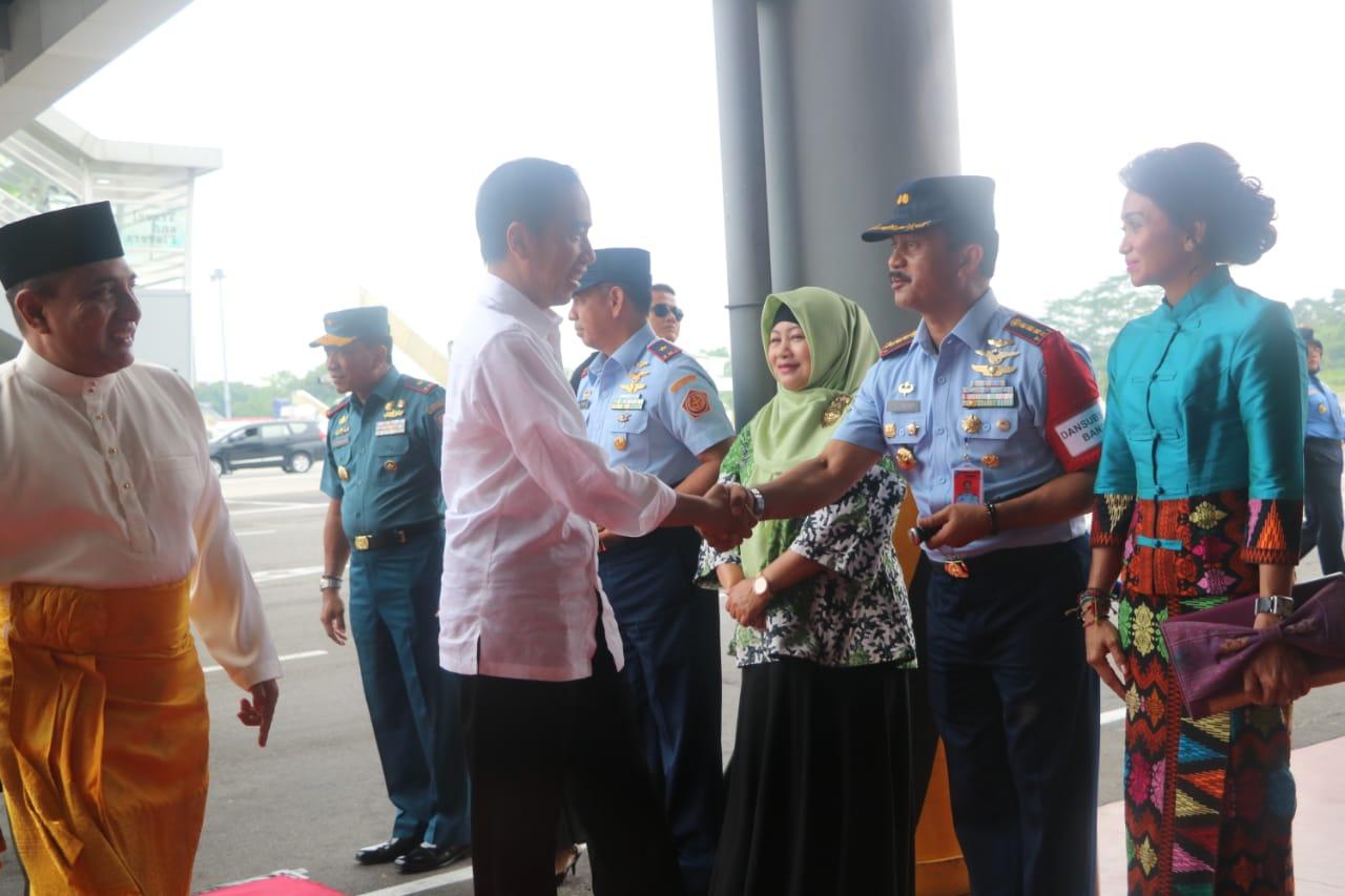 Danlanud Soewondo Menyambut Kedatangan Presiden RI