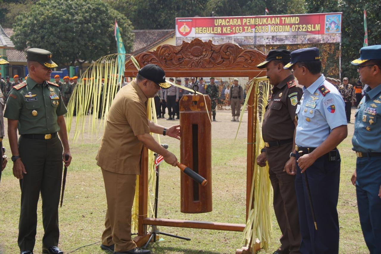 Komandan Lanud Adisutjipto Hadiri Pembukaan TMMD ke-103 di Sleman