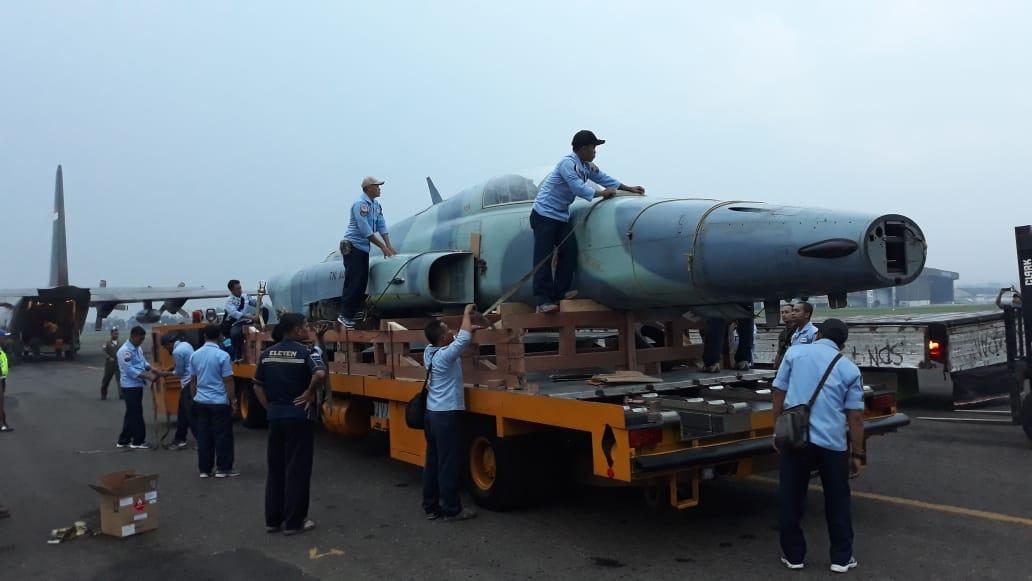Pesawat F-5 E/F Tiger II Akhiri Pengabdiannya di Seskoau Lembang