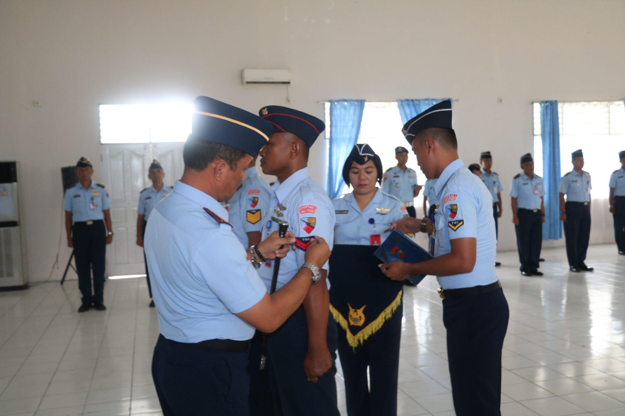 33 Personel Lanud Soewondo Naik Pangkat
