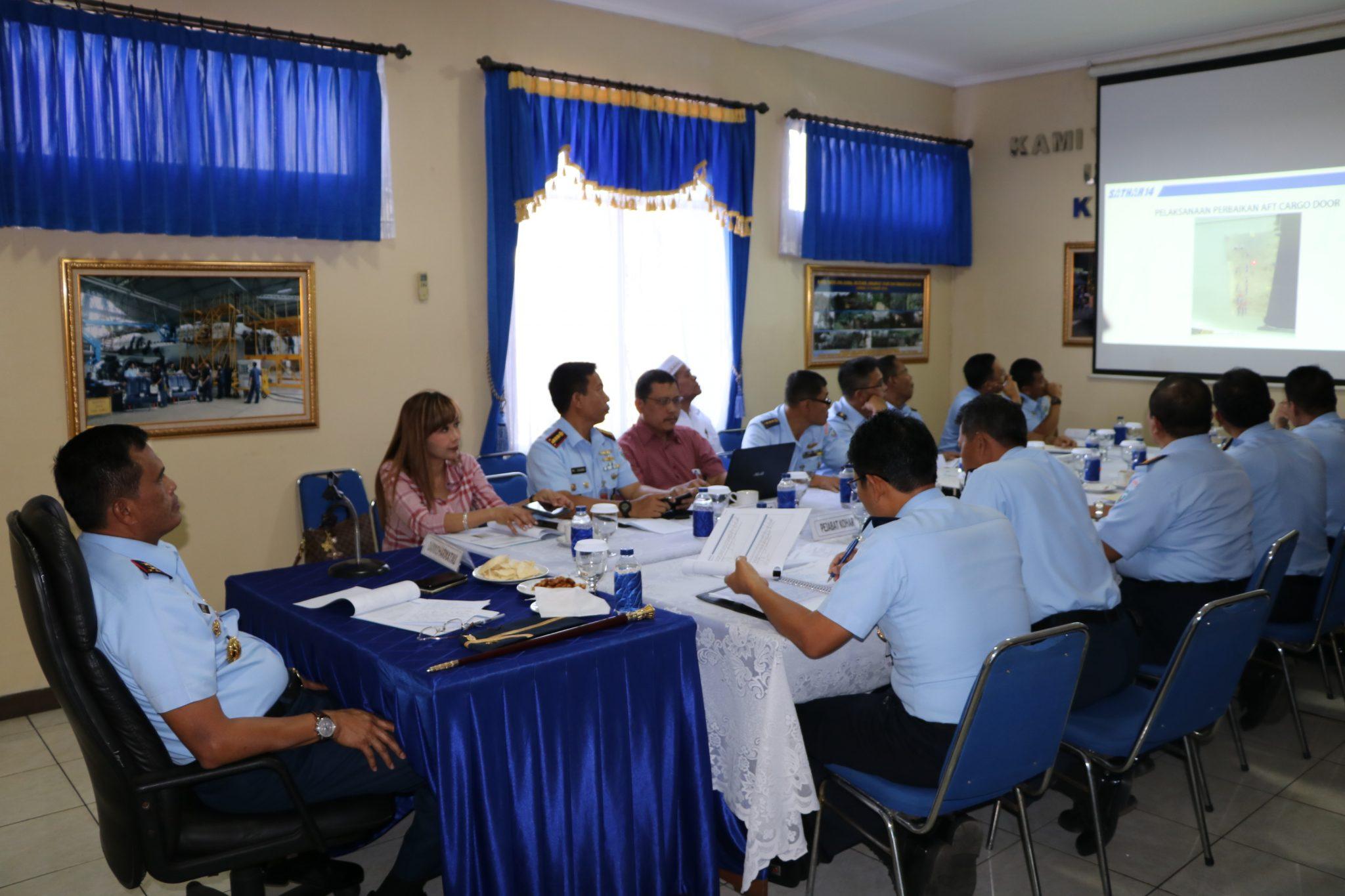 Rapat Evaluasi ke II Pelaksanaan Check D Pesawat Boeing B-737 A-7307