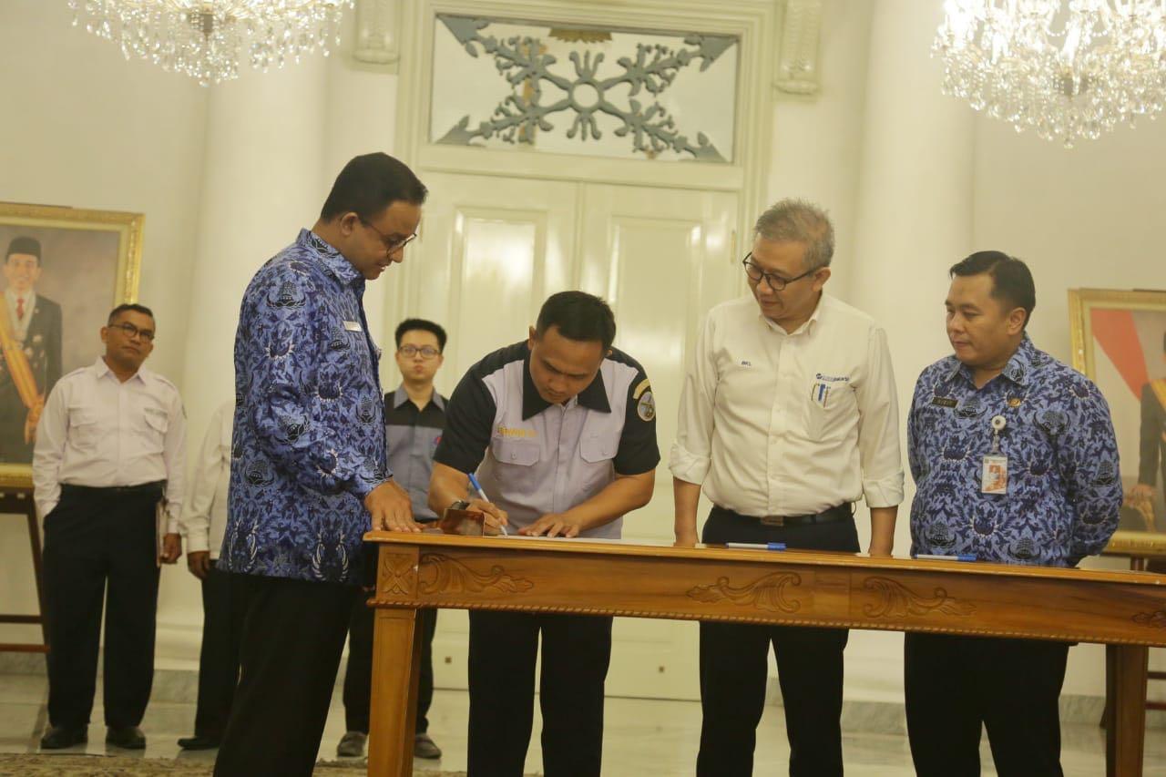 Puskopau Halim Perdanakusuma Jalin Kerjasama Dengan PT Trans Jakarta