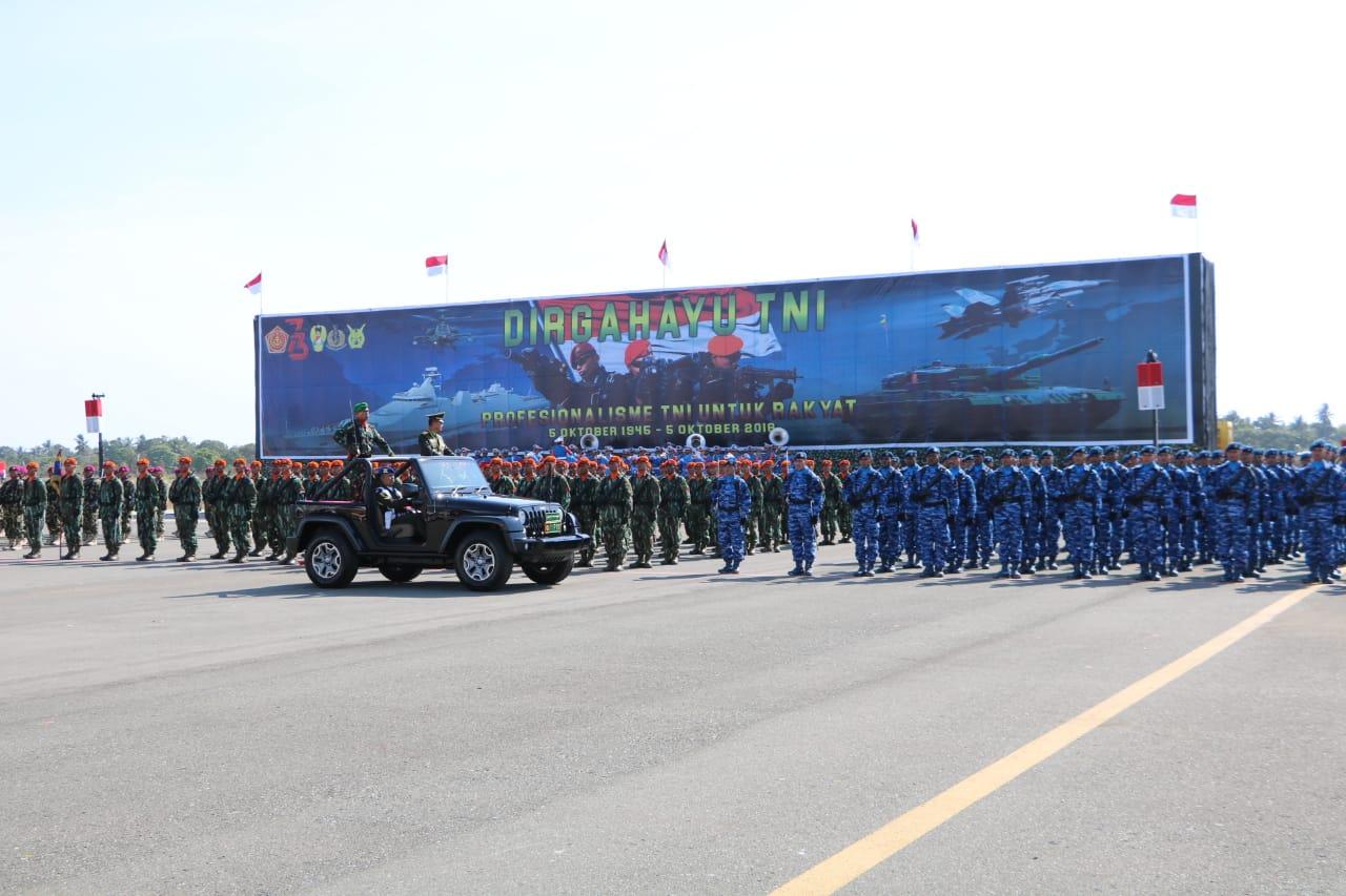 Puncak Peringatan HUT TNI ke 73 di Merauke